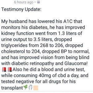 cbd oil testimonial