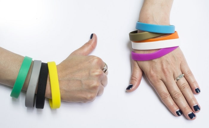 rubber bracelet for a cause silicone wrist bands marketing campaign promotional product brand awareness