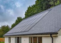 in-roof integrated solar panels built into roofing renewable power energy for property