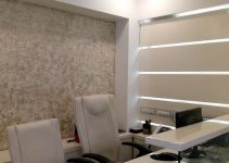 peel and stick wallpaper business office reception area decor